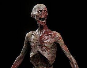 3D model Zombie Damaged