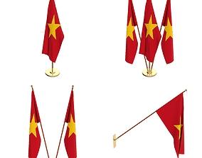 3D model Vitenam Flag Pack