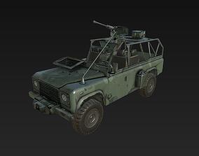 Military Land Rover 3D asset