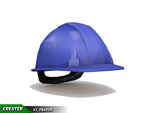 game-ready Worker Helmet Blue Safety Helmet Lowpoly 3d