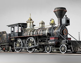 3D model American Steam Locomotive Engine
