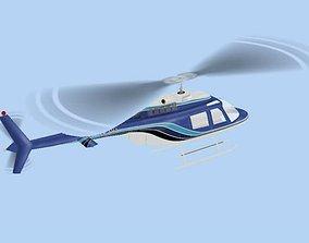 Bell 206 Jet Ranger 3D model animated