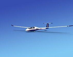 3D rigged Duo Discus Sailplane aircraft