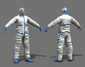 3D asset realtime Hazmat Worker