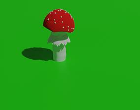 3D model game-ready art mushroom