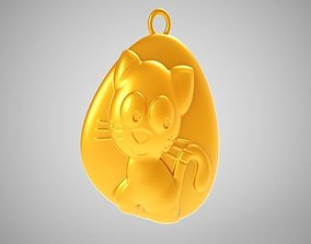 Rock Cat Necklace 3D printable model
