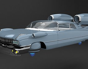 flying classiccar 3D animated