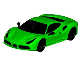 3D model Ferrari 488 GTB 2016
