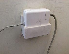 MacBook Pro Power Adapter Wall Mount 3D printable model 4