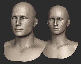 Base Head Meshes for Blender 3D