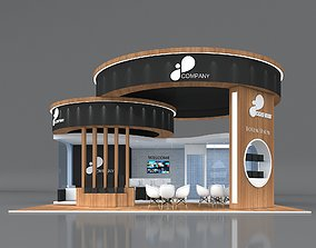 3D Exhibition Booth Stand Stall 9x9m Height 500 3
