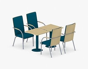 3D model 0722 - Table and Chairs Set