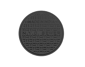 Drink coaster -NYC manhole cover 3D print model