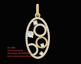 3D print model 1888 Oval Pendant