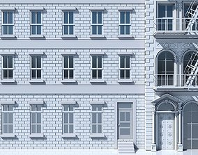 3D model Commercial Building Facade 01