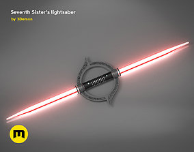 Seventh Sisters lightsaber 3D printable model