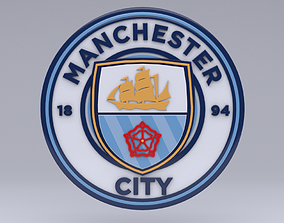 3D sports Manchester city Logo