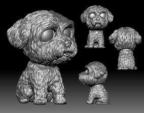 Maltese Bichon dog Funko Pop style 3D