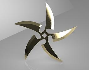 Ninja Star 5 blades Double sided 3D printable model