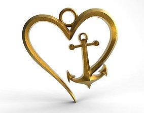 Heart anchor 3D printable model