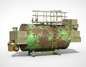 3D model Commercial Gas Oil water heater