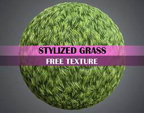 Stylized Grass Texture Free 3D asset