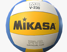 Low Poly PBR Game Ready Mikasa Volleyball 3D asset