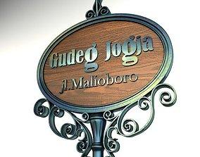 3D Vintage Signage 006