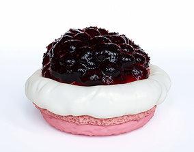 Macaron with Jam 3D
