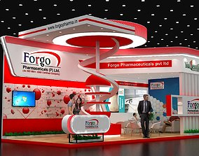 9x4Mtr Two Side Open Exhibition Stand 3D