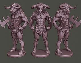 Minotaur Warrior Stand two 3D printable model