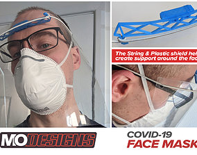 COVID-19 3D Printable Face Shield by MoDesigns