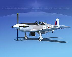 3D North American Mustang X RAF V08