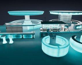 3D asset Bar props Unreal and Unity