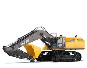 Excavator Deere 870G 3D