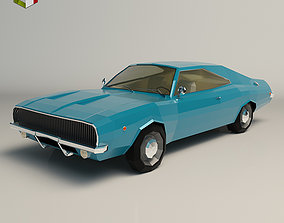 3D model Low Poly Muscle Car 04