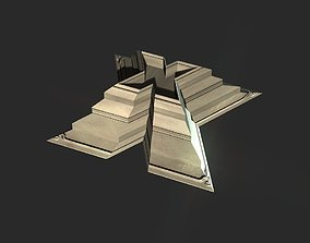 X block hollowed pyramid 3D print model