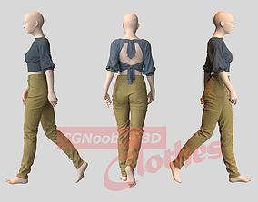 Women Summer Blouse - 33 Marvelous Designer and Clo3D