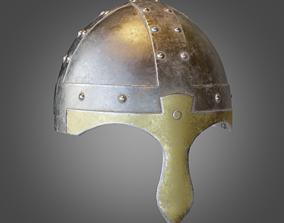 Medieval Iron Helmet 3D asset