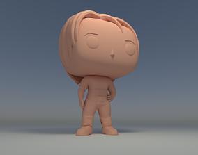 Custom Pop Girl short hair with Clothes 3D Print Model