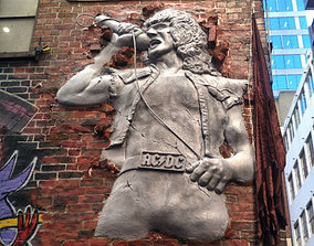 3D printable model Bon Scott Statue ACDC Lane Melbourne