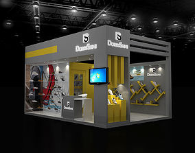 3D model 4x6Mtr Exhibition stand