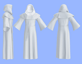 Men Full Hooded Monk Outfit 3D asset