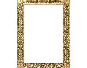 gold Carved Picture Frame 3D model