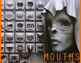 MOUTHS - 40 ZBrush VDMs and 5 bonus variations 3D model