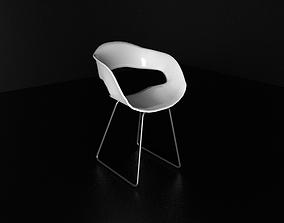 3D printable model Modern Chair with metal legs