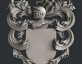 3d STL models for CNC router Coat of Arms