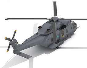 3D NH90 Helicopter