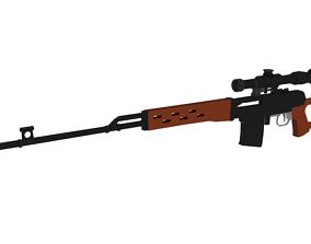 3D model Low-Poly Sniper Rifle - Dragunov