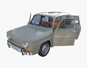 Dacia 1100 with interior Gray 3D